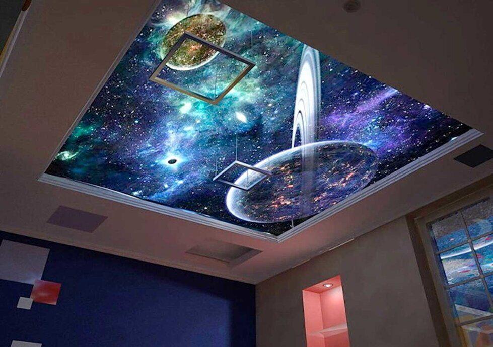 Звездное небо фотопечать натяжные потолки каталог